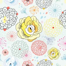 Free Floral Pattern Royalty Free Stock Photo - 23902025