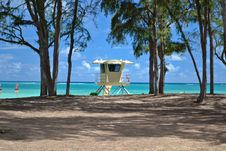 Baywatch In Oahu, Hawaii Royalty Free Stock Images