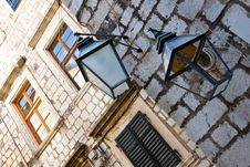Free Street Lamp In Dubrovnik. Royalty Free Stock Photo - 23905245