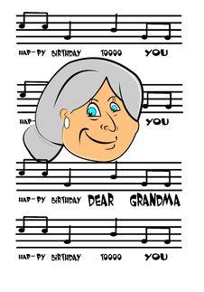 Free Grandmas Birthday Card Royalty Free Stock Images - 23906069
