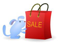 Free Shopping Dog Royalty Free Stock Photography - 23908197