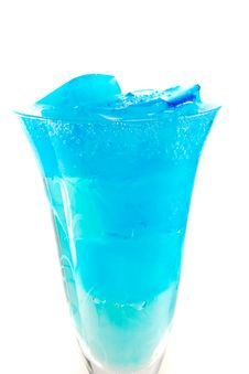 Free Top Of Wineglass With Blue Icecubes Royalty Free Stock Photography - 23908907