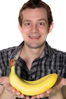 Free Man Giving A Banana Royalty Free Stock Photos - 23908908