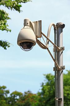 CCTV Security Camera Stock Photo