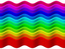 Free Rainbow Wave Background Royalty Free Stock Image - 23910616