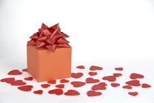 Free Gift Box Heart Decoration Stock Photo - 23912990