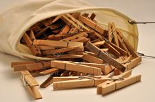 Clothenspin Bag Royalty Free Stock Images