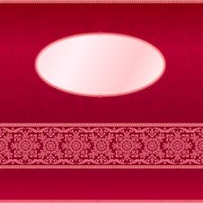 Free Red Invitation Card With Ornament Motif Stock Image - 23916191