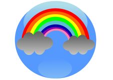 Free Rainbow Button Stock Images - 23918834