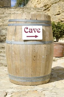 Free Cask Of Wine Cellar Royalty Free Stock Photo - 23919665
