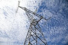 Free Power Line Tower Royalty Free Stock Image - 23919826