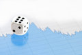 Free White Dice On Digital Screen With Financial Chart Royalty Free Stock Photos - 23926538