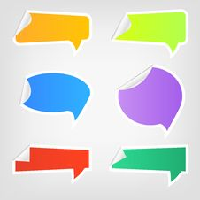 Speech Icons 2 Royalty Free Stock Images