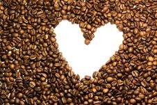Free Coffee Heart Royalty Free Stock Photography - 23921017