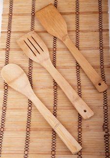 Wooden Kitchen Set Stock Photography