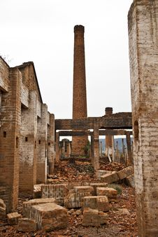 Free Ruins Of A Old Plant Stock Photography - 23924642