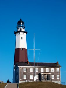 Free Blue Skies And A Lighthouse Royalty Free Stock Photography - 23925087