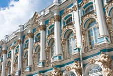 The Catherine Palace, Town Tsarskoye Selo, Russia Stock Images