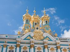 The Catherine Palace, Town Tsarskoye Selo, Russia Royalty Free Stock Images
