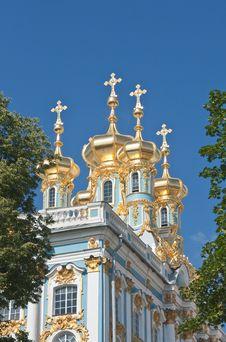The Catherine Palace,  Tsarskoye Selo Stock Photo