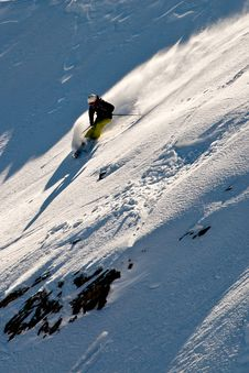 Free Freeride In Caucasus Mountains Royalty Free Stock Images - 23926989