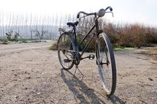 Free A Big Old Bicycle In The Rural Environment Stock Photo - 23929130
