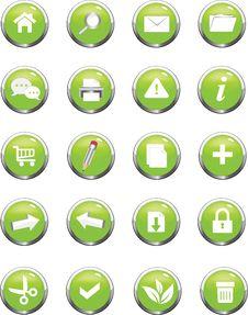 Free Web Navigation Icon Royalty Free Stock Photo - 23929235