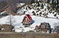 Free Snowy Village Royalty Free Stock Photos - 23935278