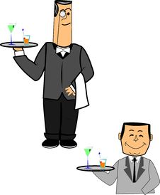 Free Waiters Stock Images - 23930124