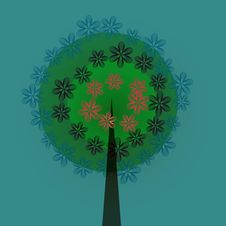 Free Decorative Tree Royalty Free Stock Images - 23930409