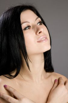 Free Portrait Of Beautiful Sexy Brunette Stock Photography - 23930982