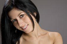 Free Portrait Of Beautiful Sexy Brunette Stock Photo - 23930990