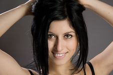 Free Portrait Of Beautiful Sexy Brunette Royalty Free Stock Images - 23931009