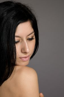 Free Portrait Of Beautiful Sexy Brunette Stock Photography - 23931022