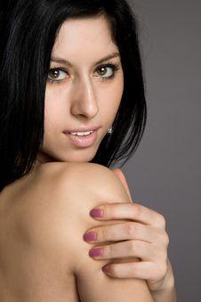 Free Portrait Of Beautiful Sexy Brunette Stock Photo - 23931030