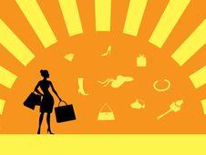 Girl In Shopping Stock Image