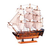 Toy Wooden Ship Royalty Free Stock Photo