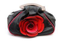Free Women  Handbag With Rose Flower Stock Photos - 23932153