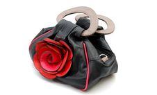 Free Women  Handbag With Rose Flower Stock Photos - 23932163