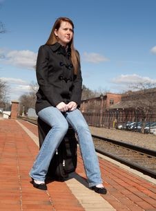 Free Waiting For The Train Royalty Free Stock Photo - 23932985