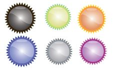 Free Glsosy Colored Buttons Royalty Free Stock Photography - 23934597