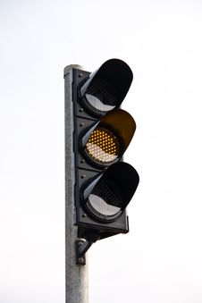 Yellow Traffic Light Stock Image