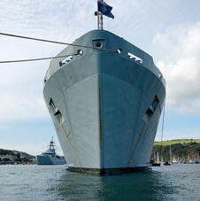 Free Warship At Dartmouth Royalty Free Stock Images - 23942689