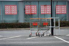 Free Shopping Trollies Royalty Free Stock Photo - 23942695
