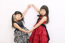 Free Two Little Asian Girl Stock Photo - 23943100
