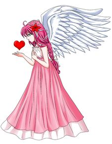 Free Angel With Love Royalty Free Stock Photo - 23946325
