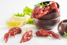 Boiled Crawfish Royalty Free Stock Photo