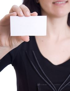 Free Girl In A Business Card Royalty Free Stock Photo - 23947965