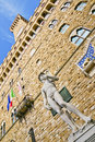 Free David And Palazzo Vecchio &x28;Florence&x29; Royalty Free Stock Photography - 23957187