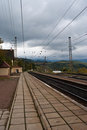 Free Railway Station In The Mountains Royalty Free Stock Photo - 23957355